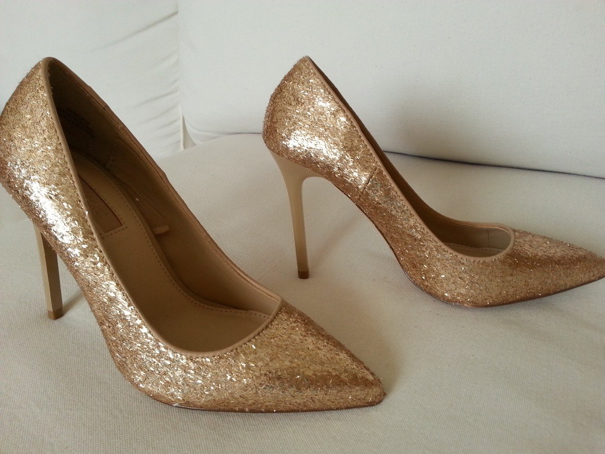 b917948c Zapatos De Fiesta Nro 35 Color Dorado Suave. Nuevos - $ 800,00 en ...