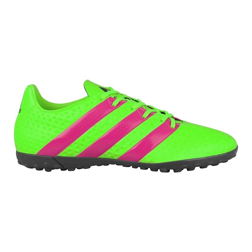 c1b80c7ae91ee Zapatos De Fútbol adidas Para Hombre Simipiel Verde Con Rosa ...