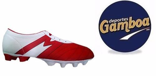 zapatos de fútbol mithos rojo blanco ¡envio gratis!