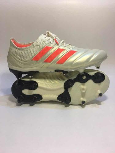 zapatos de fútbol profesional adidas copa 19.1 white orange