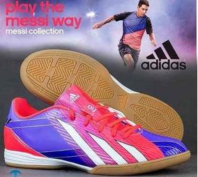 Zapatos Adidas 2014 Futbol Sala Zapatos Deportivos Rojo en