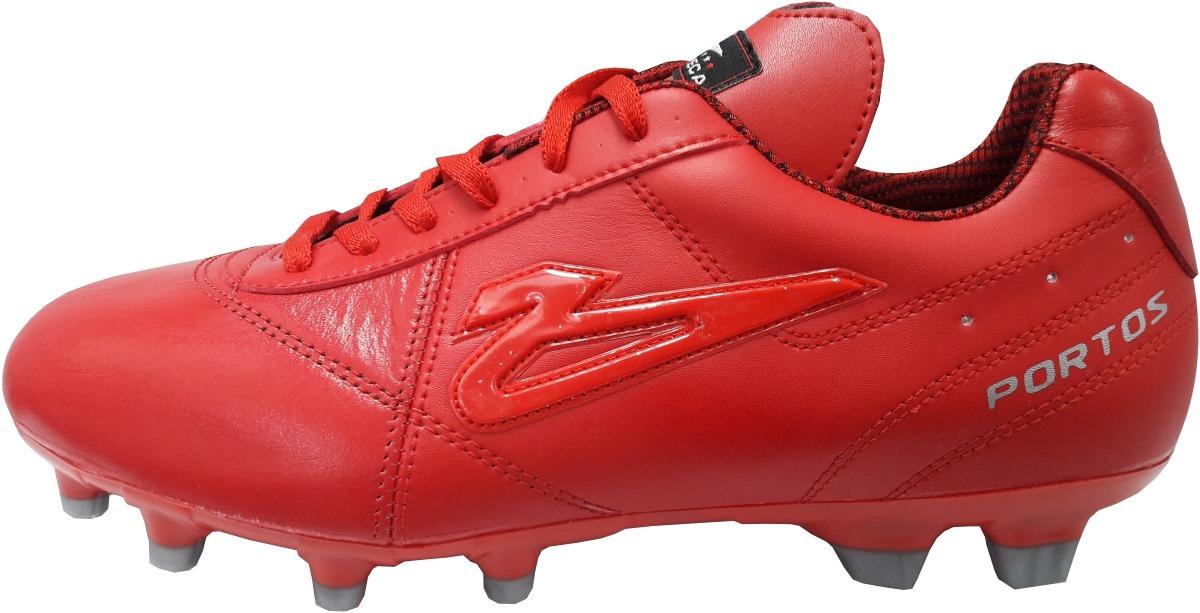 zapatos de futbol soccer olmeca portos rojos en piel  mf. Cargando zoom. 220894e4a4174