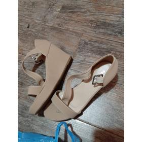 Zapatos De Gamuza Beige Sin Uso