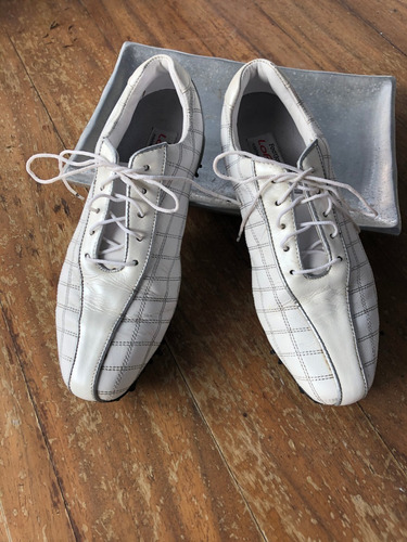 zapatos de golf para dama blancos footjoy talla 25.5mx 8.5us