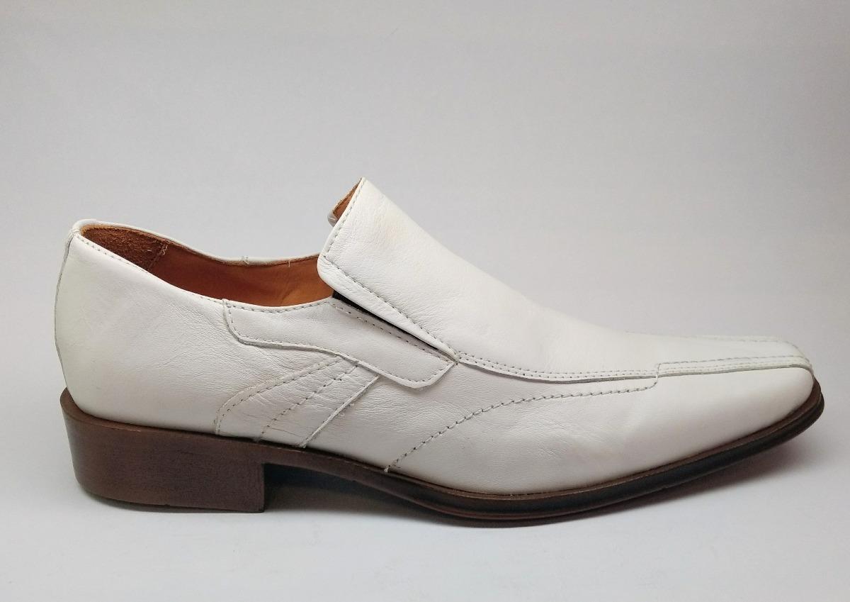 413542b12aed1 zapatos de hombre blanco cuero de vestir casual con elastico. Cargando zoom.