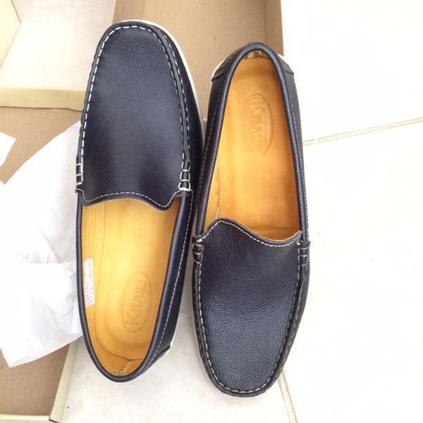 1dbc4f343 Zapatos De Hombre De Verano - Mocasines Azules Suela Blanca -   850 ...
