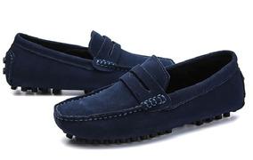 Zapatos Casual GamuzadoVestir Cuero De Mocasines Hombre PkXZui
