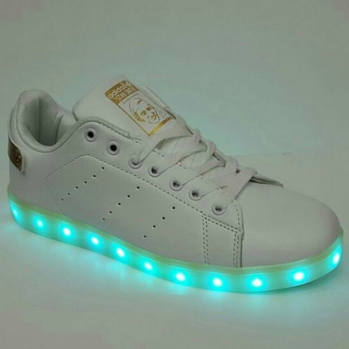 zapatos de luces stan smith de damas