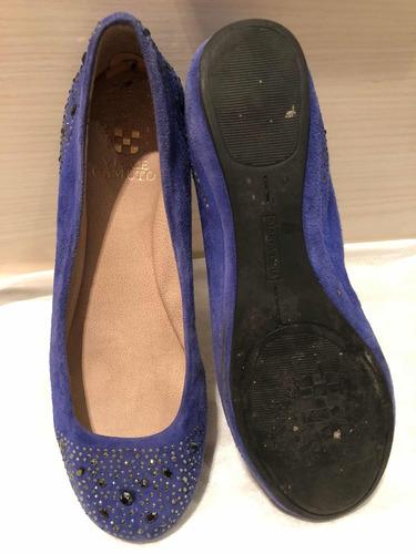 zapatos de mujer en gamuza azul vince camuto