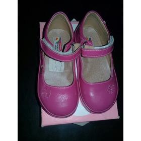 Zapatos De Niña Pocholin , Fucsia, Talla 23
