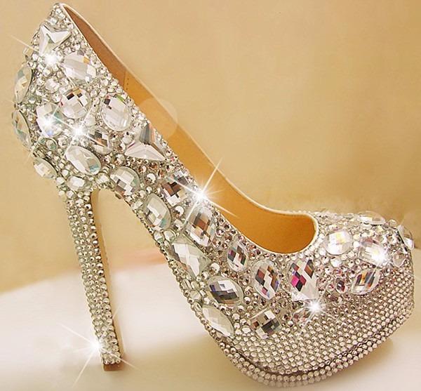 zapatos de novia 15 años con strass y gemas - $ 3.850,00 en mercado