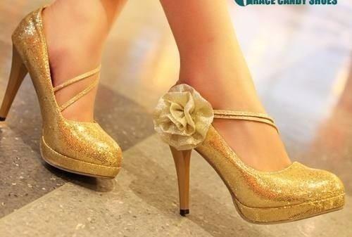 zapatos de novia dorados (max)