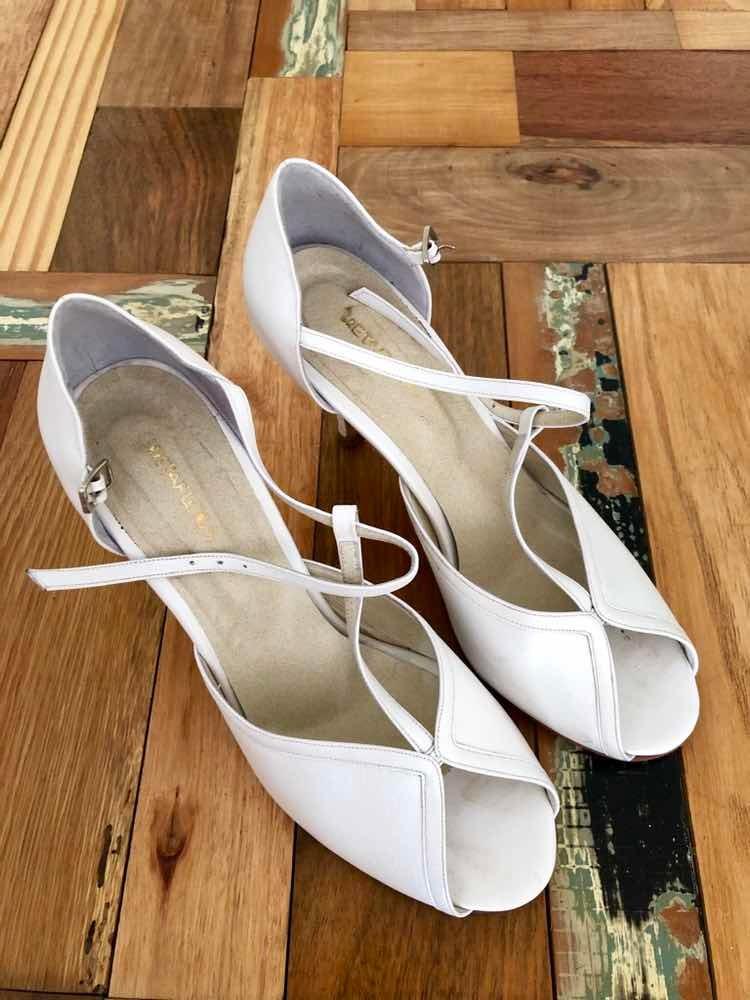 zapatos de novia gretaflora - $ 650,00 en mercado libre