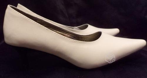 zapatos de novia nuevos blancos muy cómodos taco de 5 cm