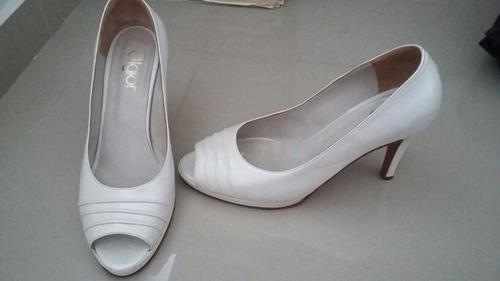 zapatos de novia talle 40.41 super cómodos con plataforma.