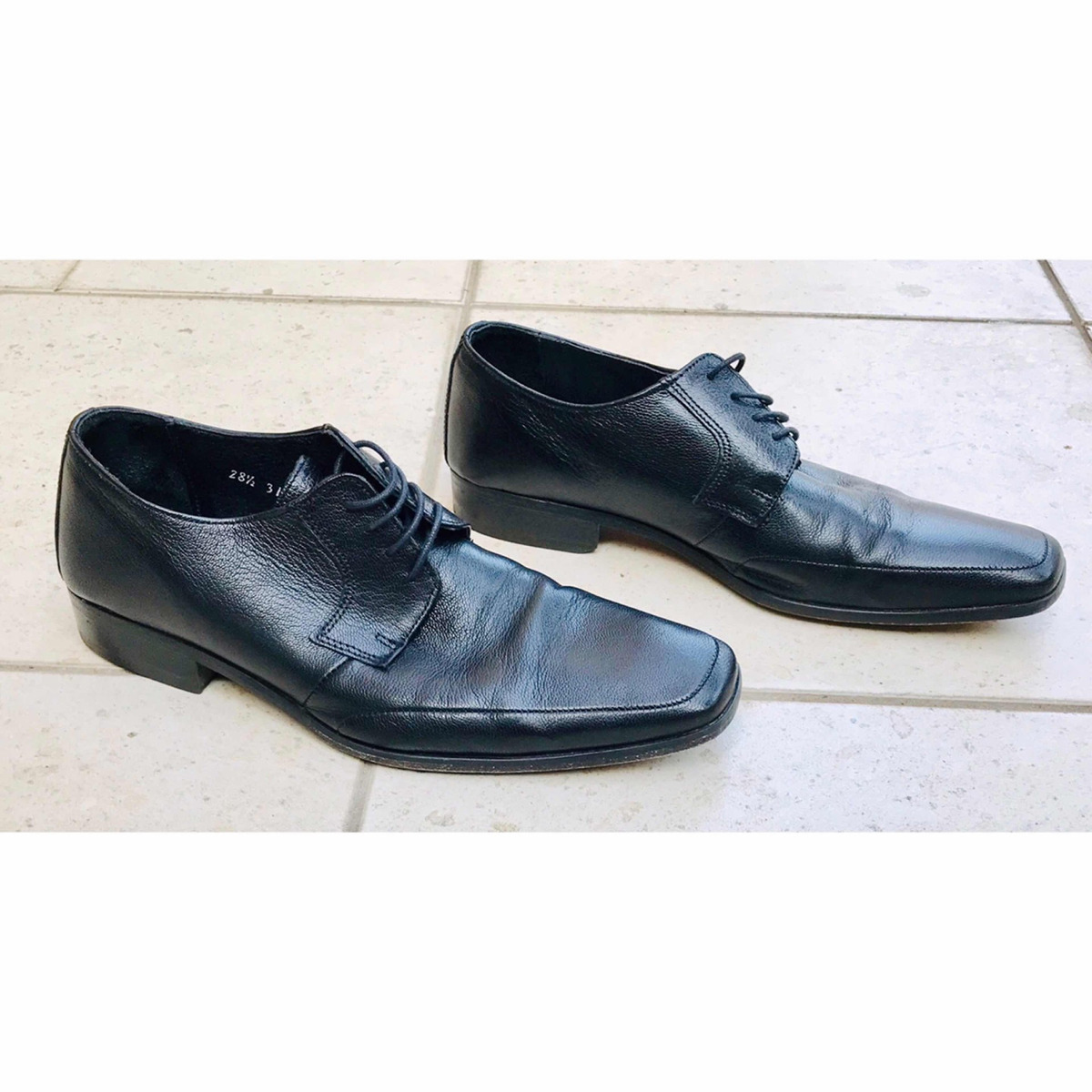 Zapatos Formales Usados749 Piel De Con 00 Negros 5 Tacón 28 Hombre 8vn0mwN