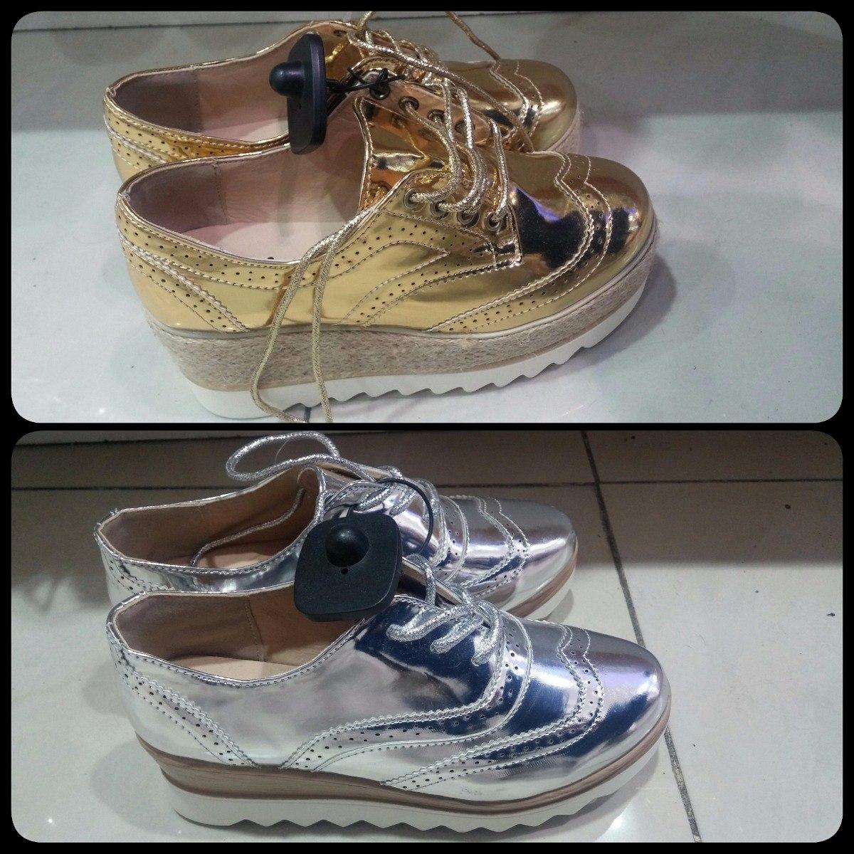1c839c88928 zapatos de plataforma oxford dama moda brillantes. Cargando zoom.
