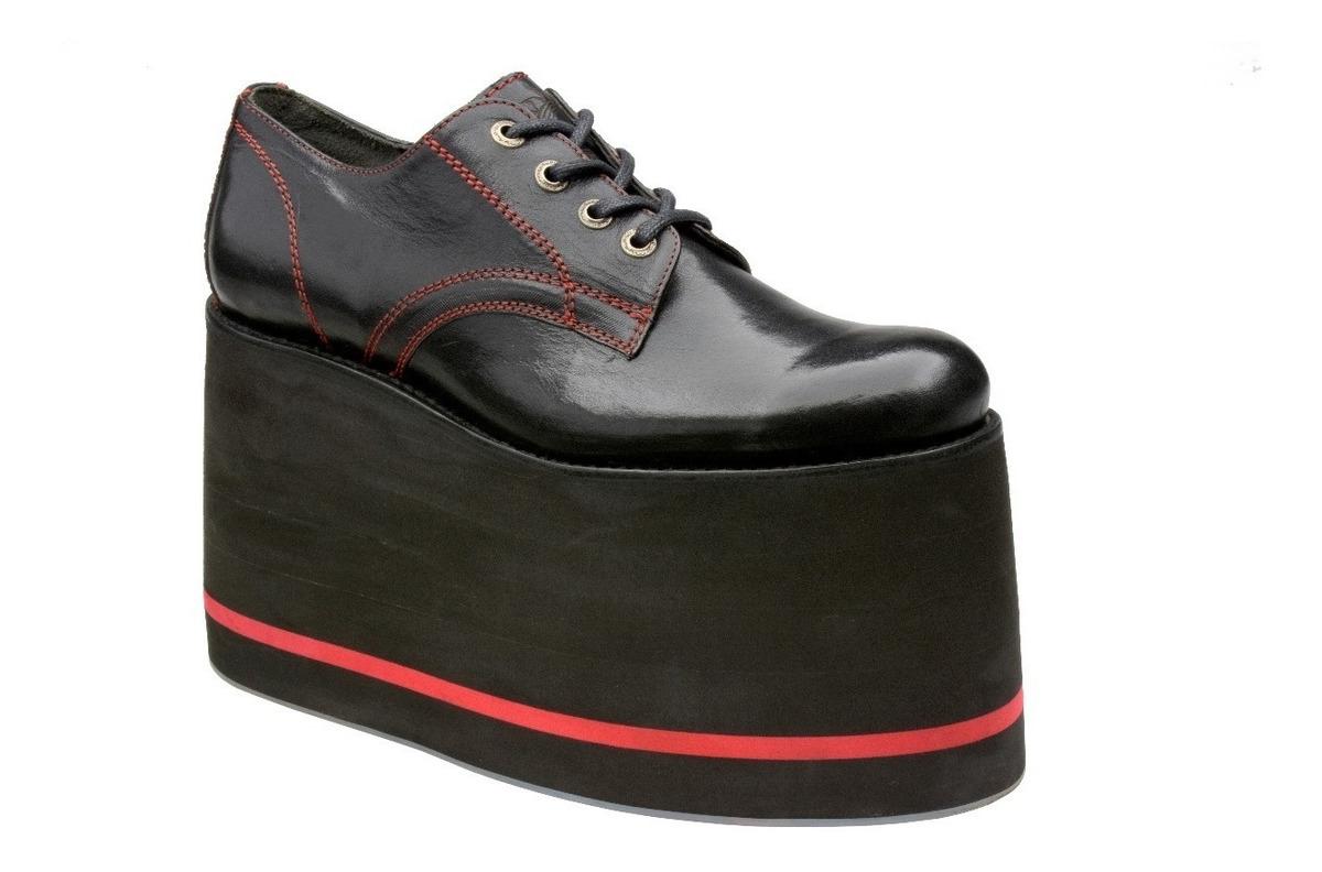 precios grandiosos venta más barata Moda Zapatos De Plataforma Para Hombre Negros Mod Tie Shoe Muro