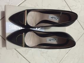 Clarks Zapatos Envío De Negros Talla Gratis Punta Piel 37 roWdCxBe