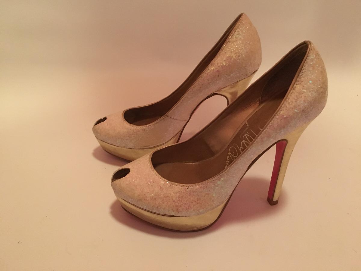 a947871917cff zoom con Cargando de con manteca rosa zapatos suela brillos taco color  p1ZwxpqYv