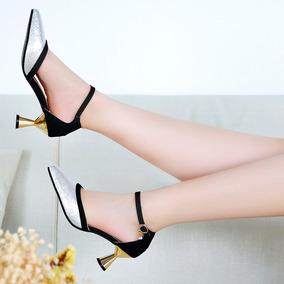 De Alto Tacón Para Mujeres Moda Tobillo Zapatos Punta 7gvf6IymYb