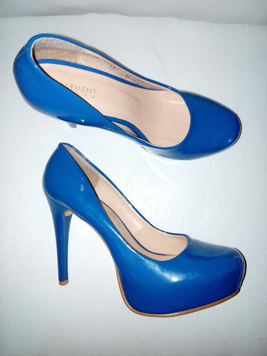 000 De Tacon Zapatos Azul Charol Alto Plataforma Interna40 En wXZPkuTOi