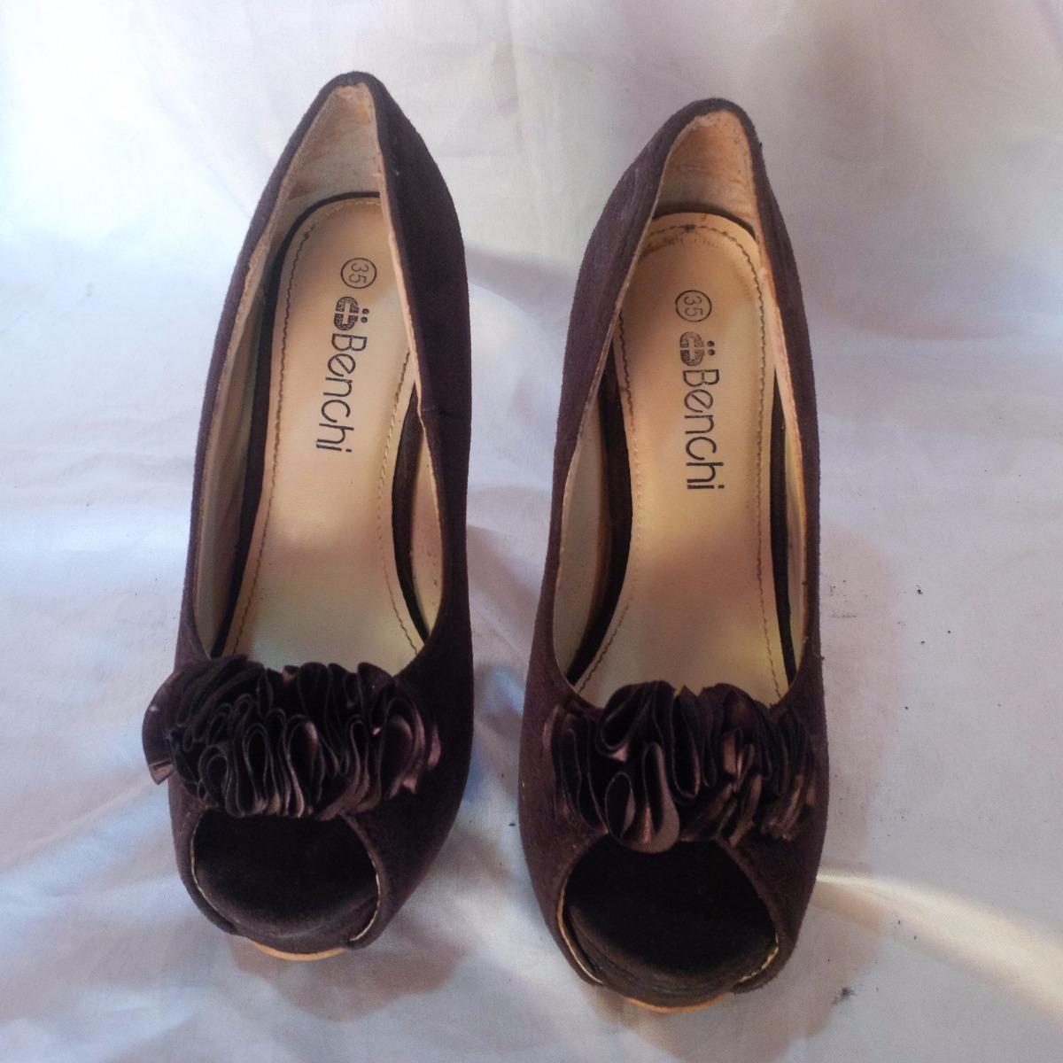 d287bf949a7c9 zapatos de tacon alto marron oscuro talla 35. Cargando zoom.