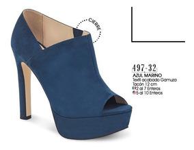 precios increibles envío gratis niño Zapatos De Tacon Color Azul Marino 497-32 Cklass Dama 2-19 D