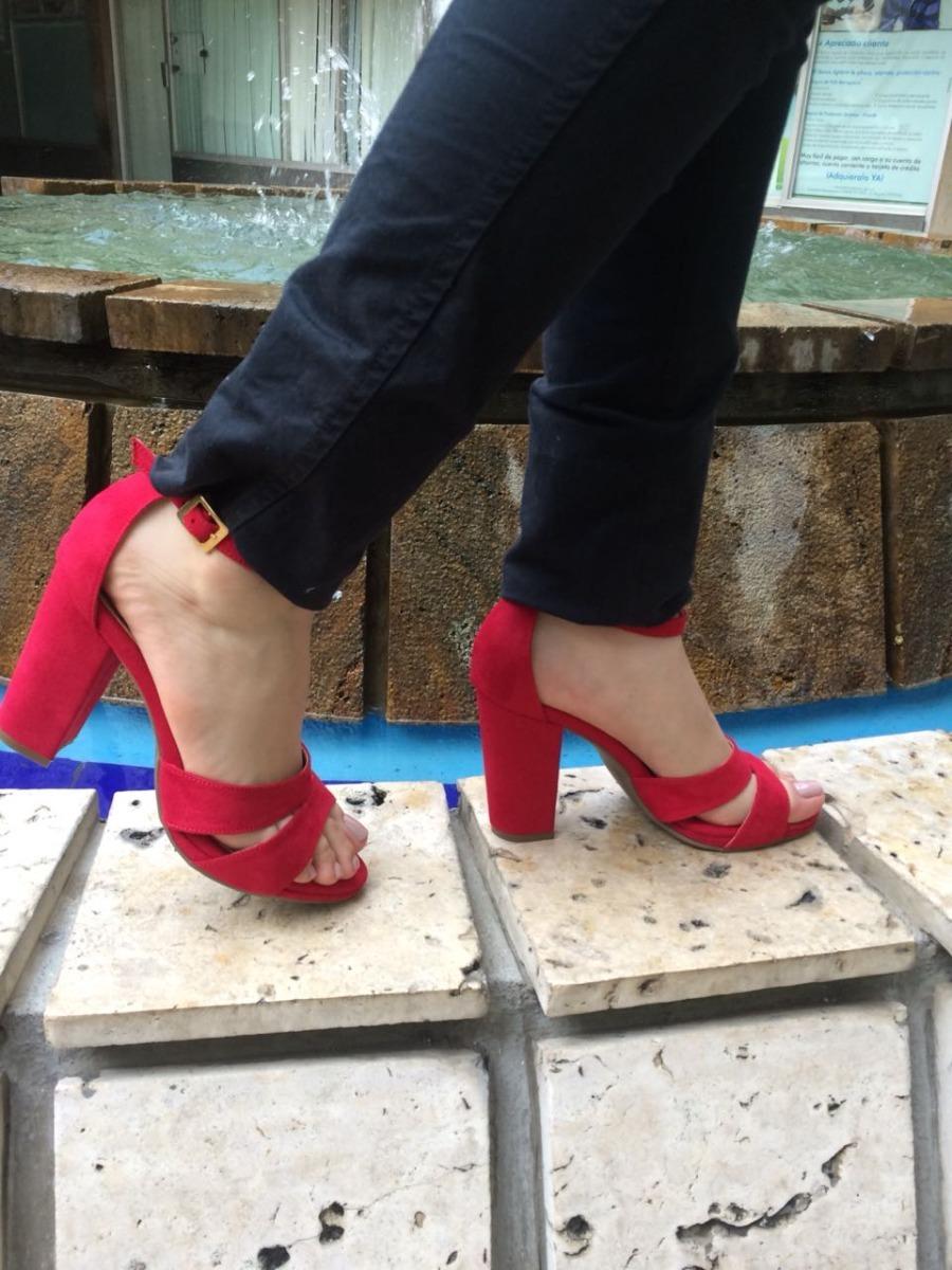 claro y distintivo elige lo último artesanía exquisita Zapatos De Tacón Color Rojo De Moda Mujer Zapatillas Dama