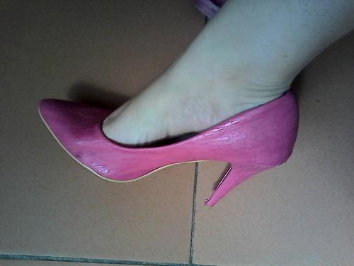 zapatos de tacon de dama fucsia 40