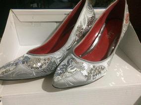 Plateados Talla Zapatos Con De 38 Tacón Lentejuelas kiZOuPX