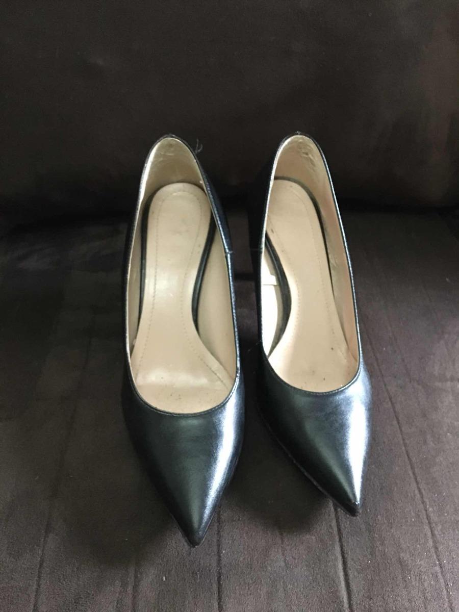 17b5a938b3fb2 zapatos de tacón stilettos dama negros benetton de piel 24. Cargando zoom.
