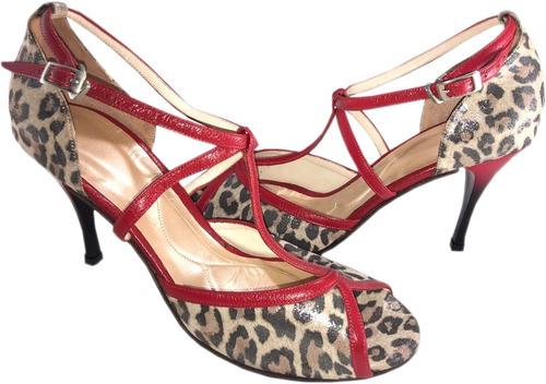 zapatos de tango salsa rock fiesta baile cuero flex taco 8,5