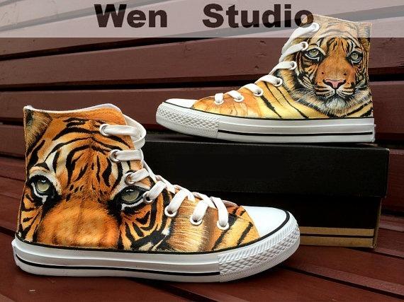 zapatos De Tigre Tierno Marca Original Diseño Mano Hecho A Mano Diseño 33438f
