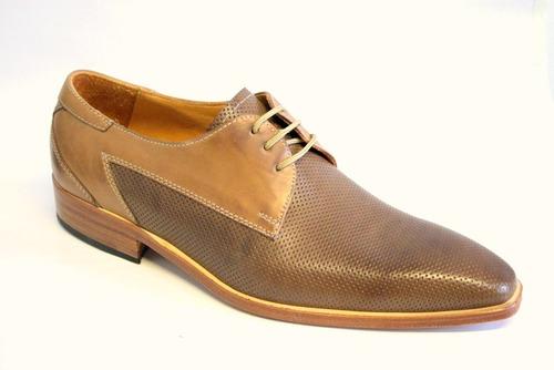 zapatos de vestir de cuero picados ragazzi 7597 suela