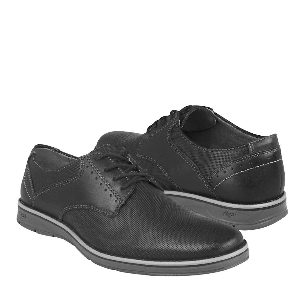 Para 00 Flexi Piel Zapatos Caballero Vestir De 98404 789 Negro xUqwHzPt