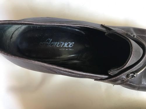 zapatos de vestir italianos café moro marca florence 38