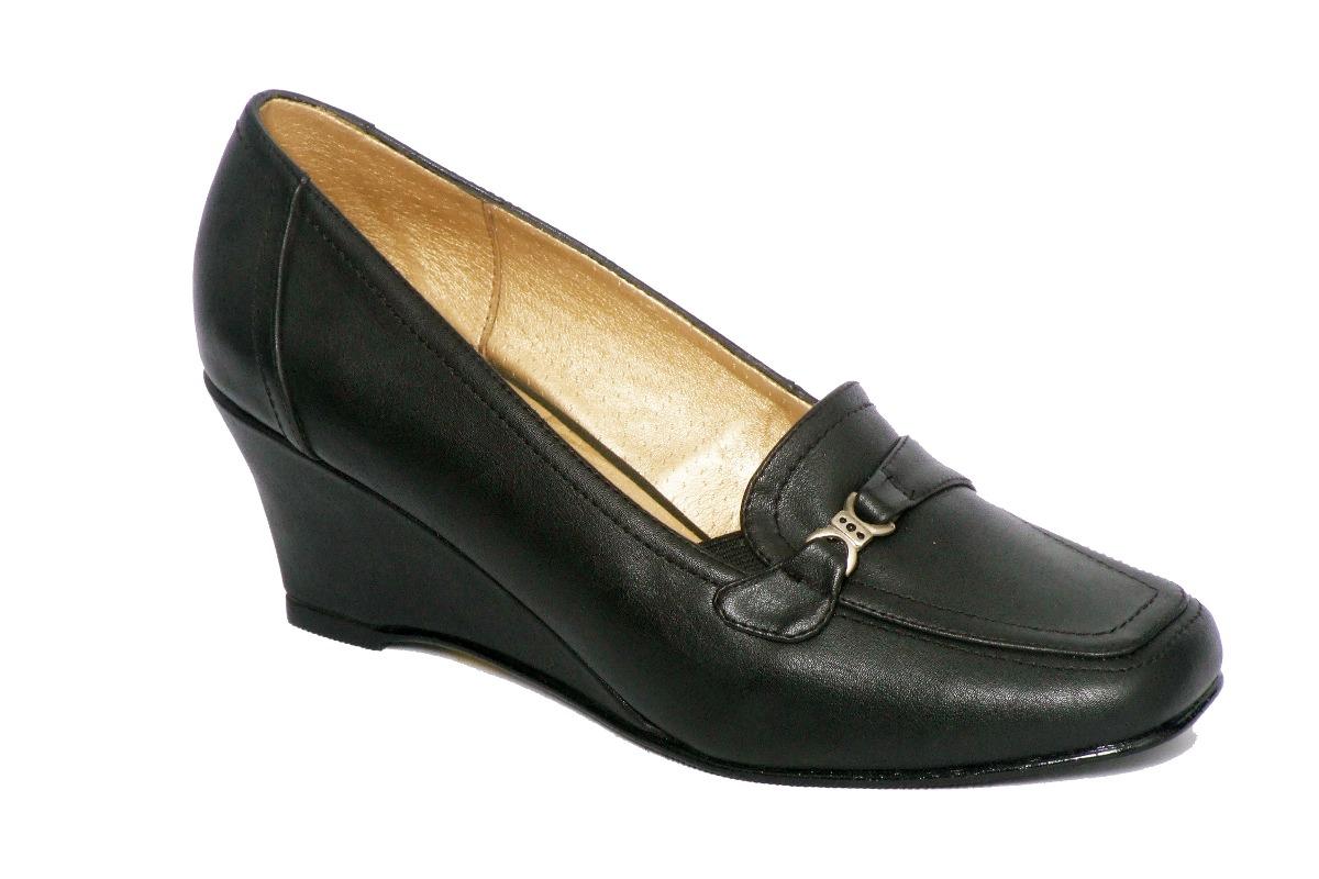 zapatos de vestir mujer - taco cuña - mocasín. Cargando zoom. 15421b9f1d0e