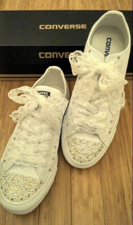 Zapatos Decorados Converse Novias Bodas Quinceañeras