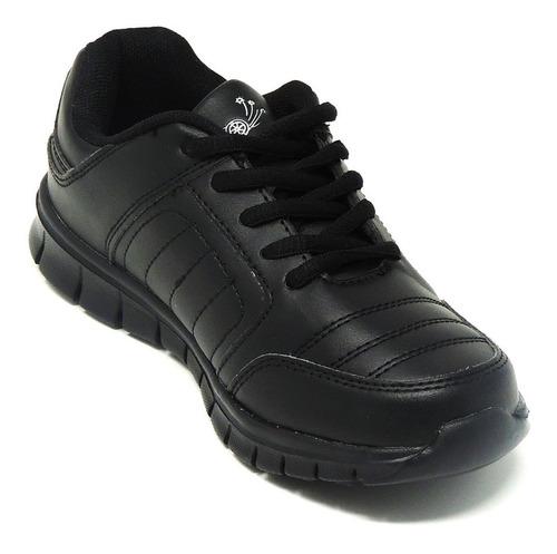 zapatos dep. escolares yoyo 14151l negros 24-31 envío gratis
