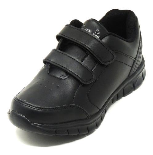 zapatos dep. escolares yoyo 15310v negros 24-31 envío gratis