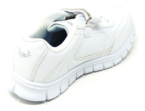 zapatos dep. escolares yoyo 15339v blanco 24-31 envío gratis