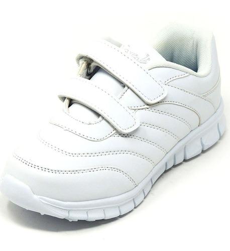 zapatos dep. escolares yoyo 16367v blanco 32-39 envío gratis