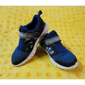 c2c94eea272d9 Zapatos Deportivos Nike Free Run Talla 32 Azul Para Niños