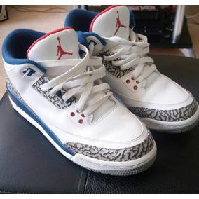 c1027ea879d9f Zapatos Jordan 3 Retro Azul Con Blanco - Zapatos Deportivos en ...