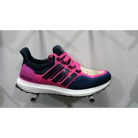 7538beb6 Zapatos Deportivos Negro Y Fucsia - Zapatos Adidas de Mujer en ...