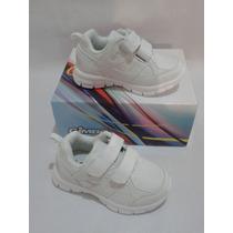 Zapatos Escolares Deportivos Blancos Marca Gimbo
