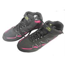 Zapatos Deportivo Rs21 Damas Botin Gris/fucsia Model 3364-2