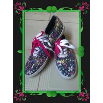 Oferta Zapatos Nuevos Importados Tipo Keds Color Flores