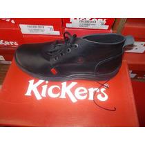 Zapatos Kickers Botin, Escolares Negro.